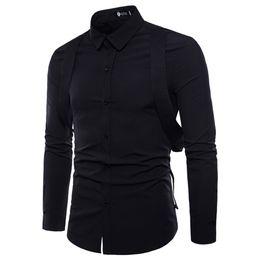 32b0590ebde Men Social Shirt Long Sleeve Oxford Formal Casual Suits Slim Fit Tee Dress  Shirts Korean Slim Design Casual Male Dress Shirt