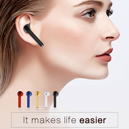Microphone brand car online shopping - Retail VOVG i7 Bluetooth Earphone CSR4 Wireless Handsfree Car Driver Headset Phone Stealth Earbuds With Microphone for iphone samsung
