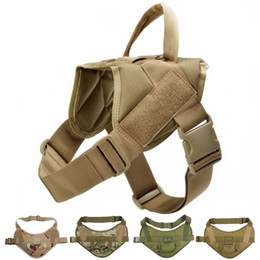 Discount tactical vests military - Tactical Dog Vest Harness Military Camouflage Harness For Medium Large Dogs Patrol Training High Quality