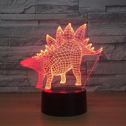 $enCountryForm.capitalKeyWord Canada - Stegosaurus 3D Optical Illusion Lamp Night Light DC 5V USB Powered AA Battery Wholesale Dropshipping Free Shippin