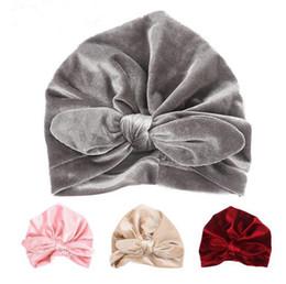 New Velvet Baby Hat for Girls Autumn Winter Baby Boy Cap Photography Props  Elastic Infant Beanie Turban Hat Baby Accessories GA437 72cf06e3b69c