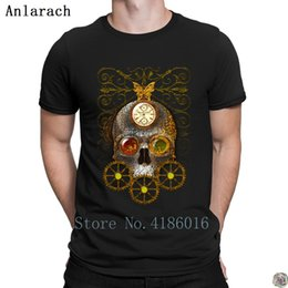 Blue Print Pictures NZ - Steampunk Head t-shirt Great solid color top tee 2018 men's tshirt Print Pictures Cute Anlarach round Neck