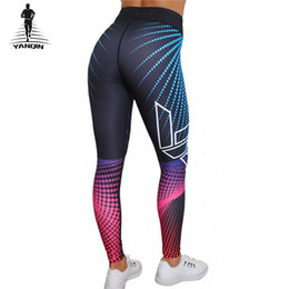 de0beab09f686d Printed Tights Canada - YANQIN Women Breathable Fitness Tights Trouser Hips  Sports Yoga Pants Leggings High
