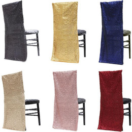 $enCountryForm.capitalKeyWord Australia - Free shipping Gold Sequin chiavari chair covers Banquet chair cover seats for wedding and party outdoor chairs decorations SN1778