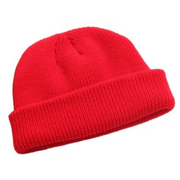 dc4239c9f61 Winter Knitted Cap Unisex Solid Color Hip Hop Skullies Beanie Warm Hat  Beanies Winter Gorros for Female Warm Skullies Touca Hat