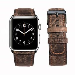 $enCountryForm.capitalKeyWord NZ - New Retro Design Real Genuine Leather Band For Apple Watch Series1 2 3 38 42mm Band Wrist Strap For iWatch Series4 40 44mm Sports Band