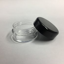 Cream jars 5g online shopping - 5G ML High Quality Empty Clear Container Jar Pot With Black Lids for Powder Makeup Cream Lotion Lip Balm Gloss Cosmetic Samples