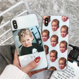 Painting Faces UK - for iphoneX 8plus 7 6s Phone Case Shell akitas Soft TPU painting kawaii Smiling face Embossed Relief Transparent silicone The handsome boy