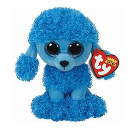 "dogs toy poodle 2018 - Ty Beanie Boos Plush Animal Doll Mandy Dog Blue Poodle Soft Stuffed Toys With Tag 6"" 15cm discount dogs toy poodle"