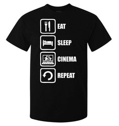 $enCountryForm.capitalKeyWord NZ - Eat sleep cinema repeat movie lover men's (woman's available) t shirt black