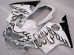 Honda F4 Australia - Injection molding Free Gifts Bodywork For HONDA CBR600 F4 1999 2000 CBR 600F4 99 00 CBR 600 F4 99-00 FS Fairing Kit White Black Flame S32423