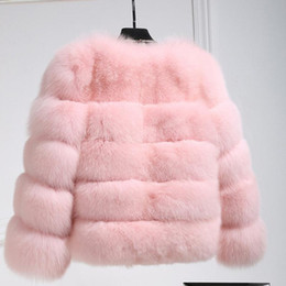 83b3a8016e iSHINE Women Winter Thick Warm Faux Fur Coat Pink Purple Furry Artificial  Fox Fur Long Sleeve Casual Jacket Overcoat For Ladies C18111501