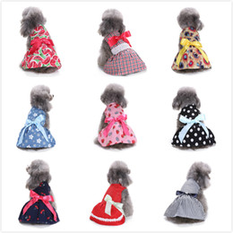 male hair products NZ - 10 Colors Pet Dog Clothes Spring Bowknot Cute Pet Dog Dresses Summer Poodle Chihuahua Dogs Shirt Pet Valentine's Day Products Freeshipping
