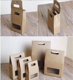 $enCountryForm.capitalKeyWord Canada - stand up window brown kraft paper bags boxes recyclable for wedding Gift Jewelry Food Candy Package Paper Box