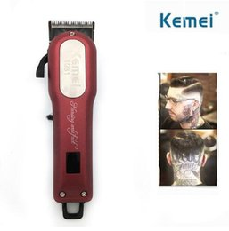 $enCountryForm.capitalKeyWord NZ - Kemei KM-1031 Cordless Hair Clipper Beard Trimmer Powerful Hair Shaving Machine Hair Cutting Razor Barber With 4 Guide Comb