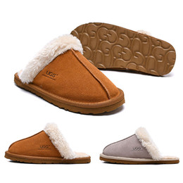 3a5fa4449191 Womens house slippers online shopping - Fshion WGG women Slides winter  Luxury Designer Indoor fur Brand