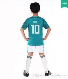 germany jersey black 2019 - world cup 2018 GERMANY kids soccer jersey kit away muller HUMMELS 18 19 GORETZKA OZIL KROOS DRAHLER WERNER football unif