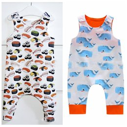 Discount design romper infant - Whale Newborn Baby Clothes Baby Romper Short Sleeve Girl Boy Cartoon Clothes Infant Jumpsuit Kids Clothing 2 Designs LDH