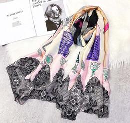 $enCountryForm.capitalKeyWord NZ - 2018 Fashion Brand Designer Scarf Luxury Women Brand Scarves for Women Shawl High Quality hijab wrap Female Imitation Silk Beach Coverup Nec