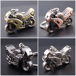 Wholesale Classic Motorcycle Keychain D Simulation Model Motorbike Autocycle Key Chain Ring Keyring Keyfob Gift Free DHL D521L
