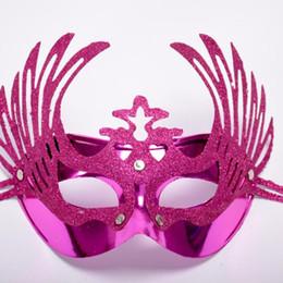 $enCountryForm.capitalKeyWord Australia - Makeup mask party birthday gold powder girl mask halloween costume dance mask female masquerade 24pcs