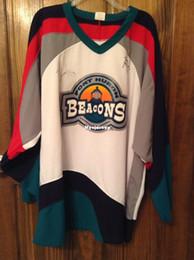 New Cheap custom Port Huron Beacons UHL home jerseys IHL NHL AHL stitched  Men s hockey jersey b003033ad