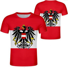 named clothing Canada - AUSTRIA t shirt free custom made name number black white gray red clothing tees aut country t-shirt german nation at flag tops