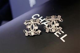 Crystal Stud Metal Australia - Factory Price 2019 Pearl Diamond Rivets Smiley Face Stud Earrings Fashion Metal Letter Long Earrings With Box