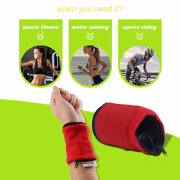 Silicone wallet zipper online shopping - Wallet Wrist Band Fleece Zipper Travel Gym Cycling Sport Wallet Sweat Absorbtion Travel Sport Wrist Wallet Hiking Accessories