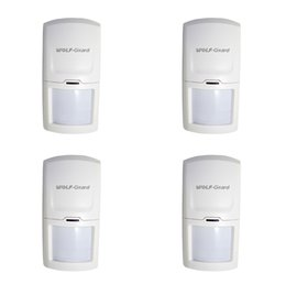 $enCountryForm.capitalKeyWord Australia - 4 x Wolf-Guard Wireless PIR Motion Sensor Detector Anti-Tamper Alarm for Home Security Alarm System 3G GSM Alarm Panel 433MHZ 4pcs lot