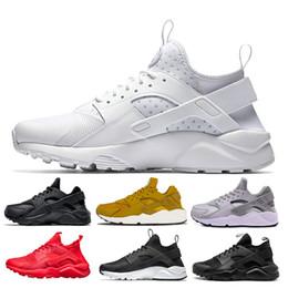 new arrival 7abc4 14467 nike air Huarache Pas cher Huarache I Chaussures de course Hommes Femmes  Classique Gris Triple Noir Blanc Huraches Baskets Chaussures Sport  Chaussures ...