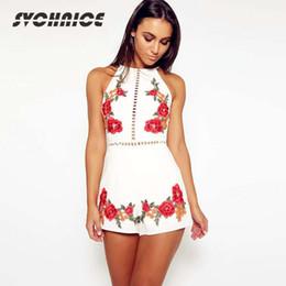 $enCountryForm.capitalKeyWord Canada - Female Sexy Summer Rompers Womens Jumpsuit Shorts Flower Embroidery Playsuits Club Bodycon Bodysuit Black White