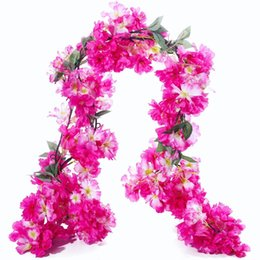 Shop artificial pink rose flower garlands uk artificial pink rose artificial pink rose flower garlands uk artificial cherry blossom hanging vine silk garland fake wreath mightylinksfo