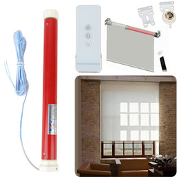 Discount remote control roller - 12V Automatic Tubular Electric Curtains Motor Roller Blind Shutters Intelligent Remote Control Lifting DIY Curtain Mayit
