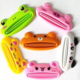 tube squeezers plastic NZ - 1pc animal cute toothpaste squeezer multifunctional squeezer toothpaste plastic cream tube squeezing dispenser organizer