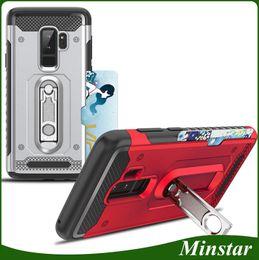 A6 Cards NZ - For Samsung Galaxy A8 Plus 2018 A6 Plus A730F A530F A8 A7 Plus A5 2017 Credit Card Slot Kickstand Phone Case Hybrid Cover