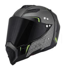 Atv full fAce helmet online shopping - Motorbike Motocross Helmets Men ATV MTB DH Downhill Dirt bike Off road Racing Helmets Full face Motorcycle Helmet Lens Visor