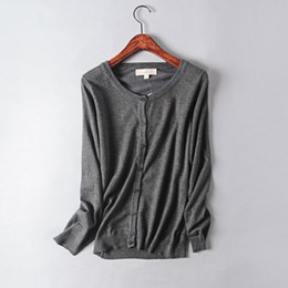 Cotton Knit Blouses NZ - original single concise wind autumn new product solid color cardigan jacket cotton women's long sleeve knitting unlined garment tops blouse