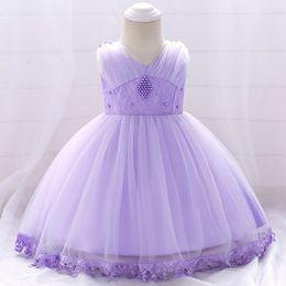 $enCountryForm.capitalKeyWord Australia - Baby Infant Toddler Pageant Clothes flower girl dress, beading lace tutu dress, ivory and champagne flower girl dress wedding dresses