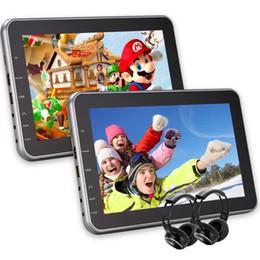 "China Dual Car DVD Players Eincar 10.1"" Portable DVD Player Twin Screen Headrest Monitor Backseat IR-TX FM-TX Headrest Mounting Kit&Remote Control suppliers"
