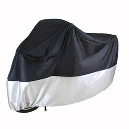 2a416edf850 Cubiertas de la motocicleta Impermeable Protector de polvo Protectores de  lluvia XL Versátil Negro Plata Blanco Moto Accesorios