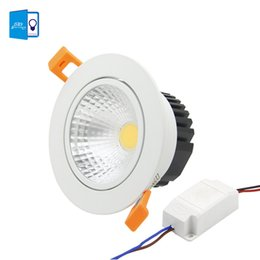 cob chips UK - [DBF]Anti-glare Recessed LED Dimmable Downlight COB Chip 5W 7W 9W 12W LED Spot light LED decoration Ceiling Lamp AC 110V 220V