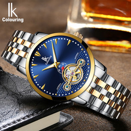Discount ik watches automatic - IK colouring Luxury Men's Mechanical Watches Self-Wind Automatic Watch Fashion Business Stainless Steel Strap bayan
