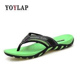 3da24bdbfcd39 Yoylap 2018 Men slippers summer outdoor leisure flip flops anti slip clip  foot flat comfortable sandals unisex