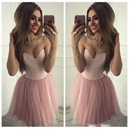 Simple Black Cocktail Dress Designs Australia - 2018 Sexy Sweetheart Pink Homecoming Dresses Sleeveless A-Line Tulle Elegant Design Party Dresses Custom Made Simple Cocktail Dresses