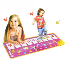 infant education NZ - Cool Fashion Baby Touch Play Keyboard Musical Toys Music Carpet Mat Blanket Early Education Tool Toys Two Version Learning Toys