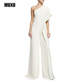 plus size body suits Australia - MUXU body feminino romper sexy body suit combinaison femme romper women white jumpsuit womens rompers elegant jumpsuit plus size