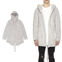 $enCountryForm.capitalKeyWord Canada - Mens streetwear Autumn Hooded Coat Middle Long Casual Cardigan Sweatshirt Flannel Comfortabl With Zipper Sleeves Bottom Curved