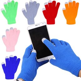 gloves for fingering NZ - Warm Winter finger Cotton Capacitive Touch Screen Gloves Multi Purpose Unisex Capacitive Christmas Gift For iPhone iPad Smart Phone