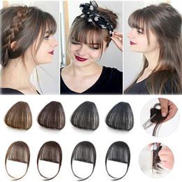 Toptan satış 100% Gerçek insan saçı Patlama Klip Patlama Uzatma El Tied Saç Patlama ile Temples sarışın